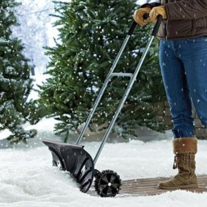 Heavy Duty Snow Pusher shovel with wheels